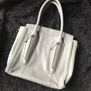 Pour La Victoire Riche Tote in Steel Grey Leather